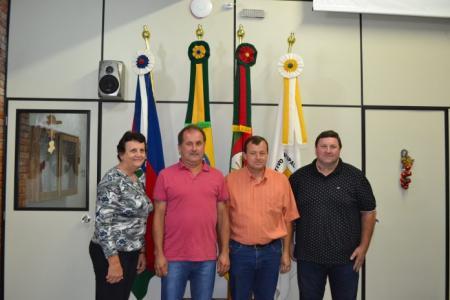 Mesa Diretora 2018 (Da esquerda para a direita: Veleda, Vice-presidente; Adair, Presidente; Valmir, Secretário e Marcos, Vice-secretário.